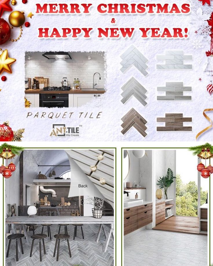 Merry X-Mas and Happy new year. @ant.tile here brings our new and popular collection - parquet tile for your 2018. In stock and welcome to contact us now. #merrychristmas #happynewyear