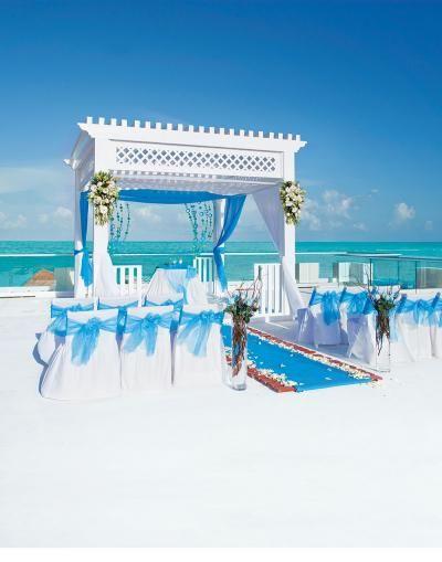 Azul Beach Hotel, by Karisma, Cancun wedding ceremony backdrop