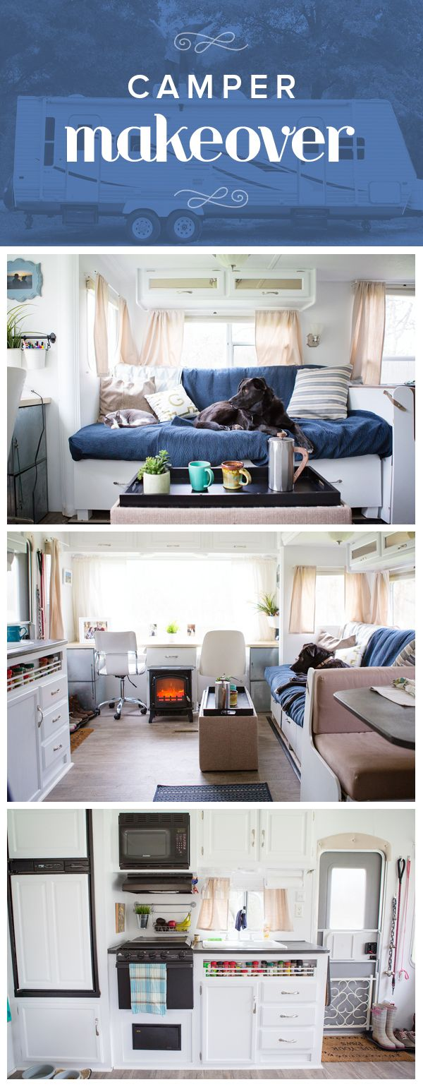 See this camper go from bland to bright after a diy makeover