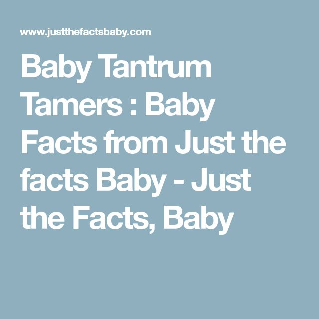 Baby Tantrum Tamers : Baby Facts from Just the facts Baby - Just the Facts, Baby