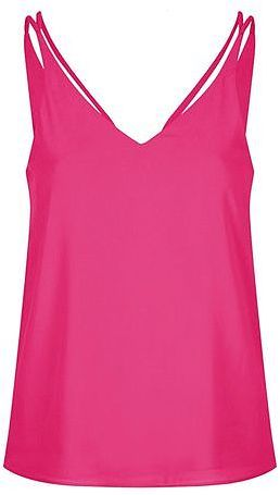 Womens cerise petite double strap v-front cami from Topshop - £16 at ClothingByColour.com