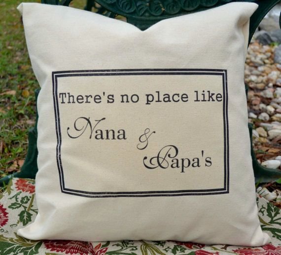 Grandparents gift,  personalized pillow, mothers day gift, Gift from Grandchildren , grandparent gift idea