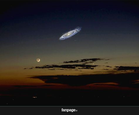 Se la Galassia di Andromeda fosse più luminosa, la vedremmo così nei nostri cieli. Meravigliosa.