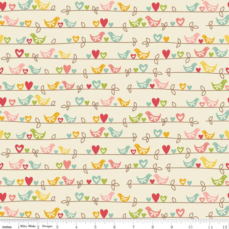 Sweetest Thing fabric cute little birds!