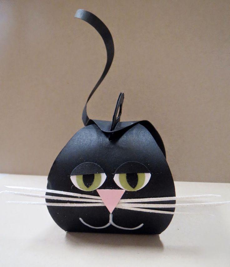 Curvy Keepsake Black Cat Boxes