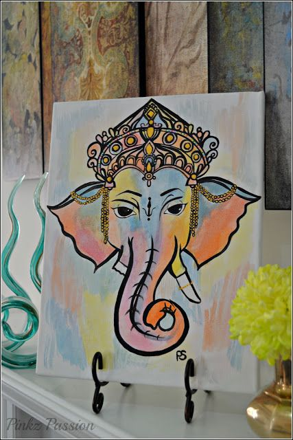 Ganesha painting, Ganpati drawings, Ganesha painting, Ganesha art work, canvas styling