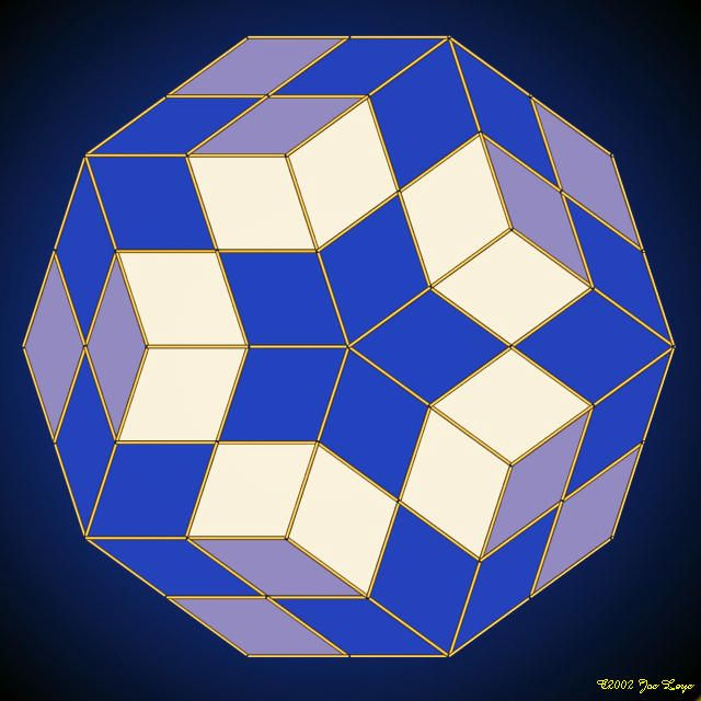 Gallery : Penrose tilings What if I made this and then appliqued it over a 3D background for my Illusions Quilt?