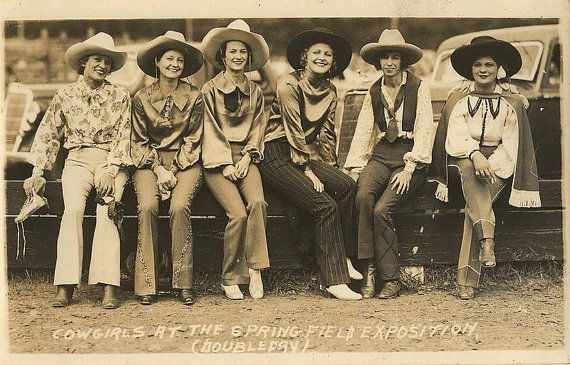 8 1/2 x 11 image of cowgirls...