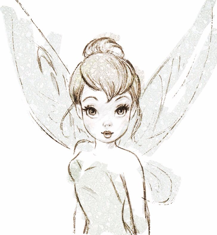 Tinkerbell black white h roes fantas a pinterest for Black and white tinkerbell