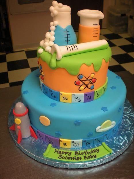 Sweet science birthday cake