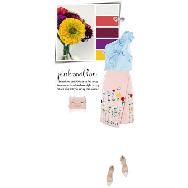 Ruffles! (Top Fashion Sets for Aug 9th, 2016) by sophiek82 on Polyvore featuring MSGM, VIVETTA, Gianvito Rossi, Sophie Hulme and Prada