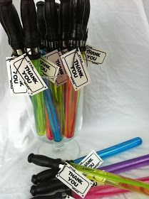 Turn bubble wands into lightsabers for a cool Star Wars party favor all the kids will love.
