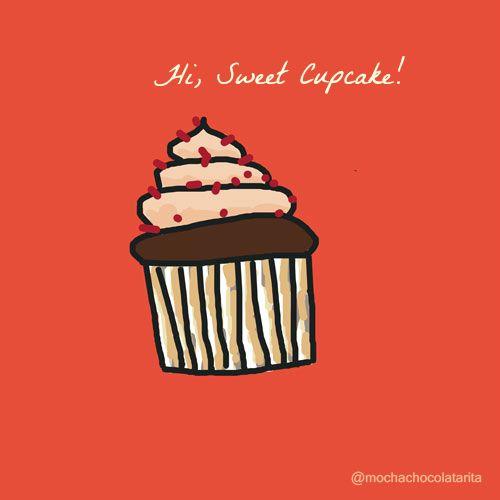 Hi, sweet cupcake! #food #sketch #doodle #illustration