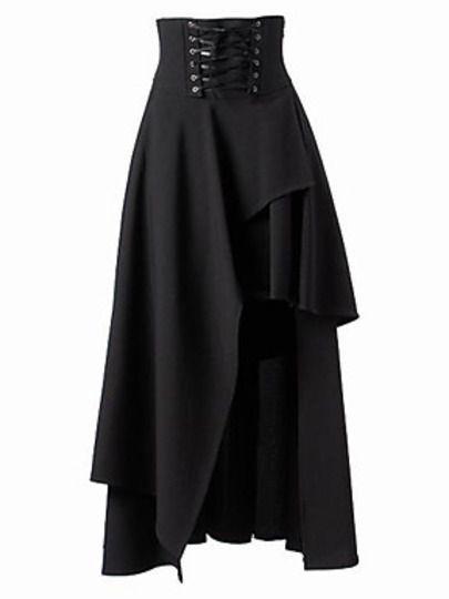 Black Bandage Asymmetrical Skirt