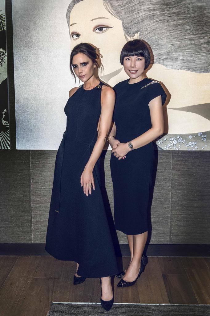 Victoria Beckham and Angelica Cheung.