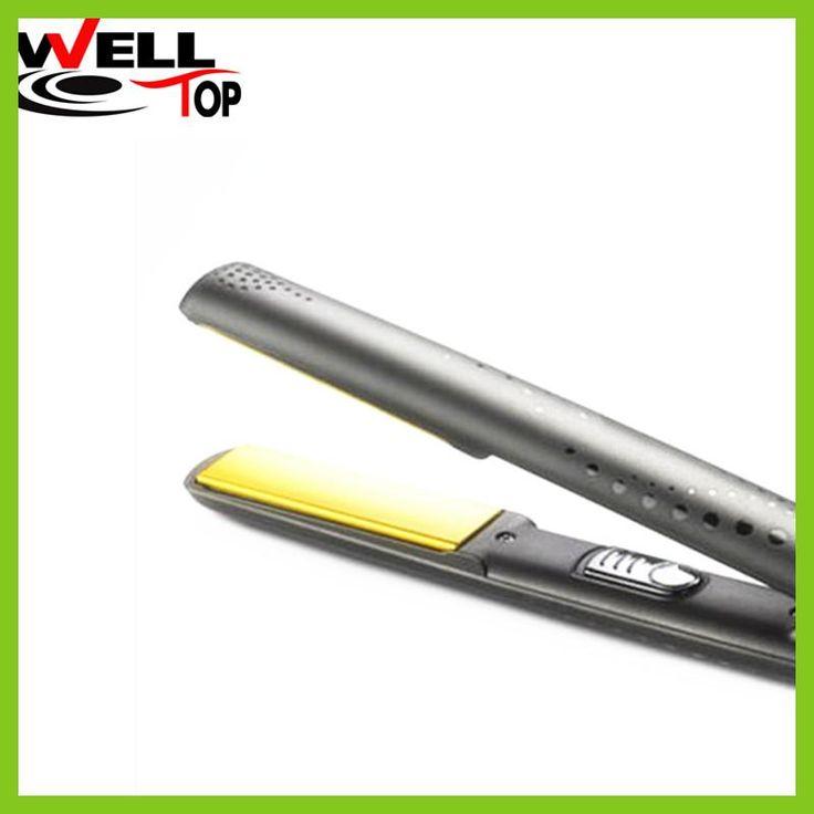 2017 Gold Styler Hair Straightening Nano Titanium Straightener V Styler Gold Black Hair Straightener La plancha de pelo Ceramic