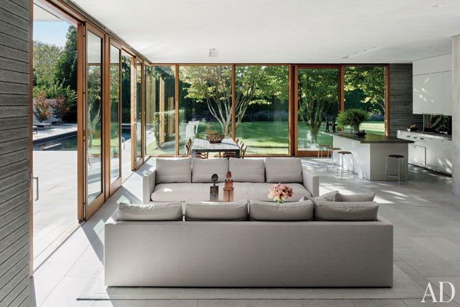 A Modernist Home in the Hamptons Architects Tod Williams and Billie Tsien create a tranquil residence of meticulously orchestrated planes and volumes on Long Island