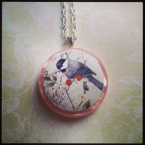 grey tit layered handmade silver plated backed by maxollieandme