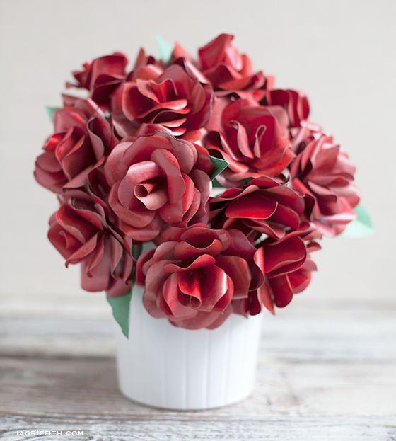 Paper Roses - Make a Long Stemmed Red Rose for Your Valentine