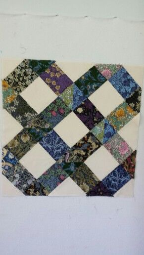 My latest start of a new quilt. Using William Morris fabric.