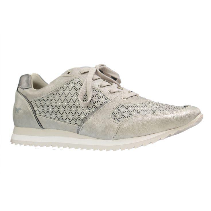 MUSTANG - 1237-301 - Damen Sneaker - Silber XXL Schuhe in Übergrößen - große Damenschuhe in Größe 42, 43, 44, 45, 46