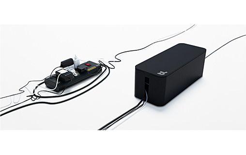 1: Bluelounge CableBox Noir - Boîte de rangement pour câbles