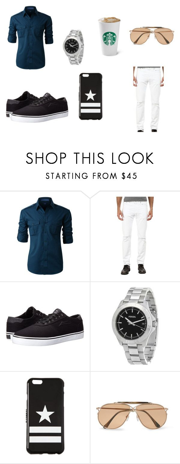 """""""para una cita o una salida casual"""" by withered-ros ❤ liked on Polyvore featuring LE3NO, Lakai, FOSSIL, Givenchy, Tom Ford, men's fashion and menswear"""