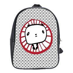 Leather Backpack/Panda
