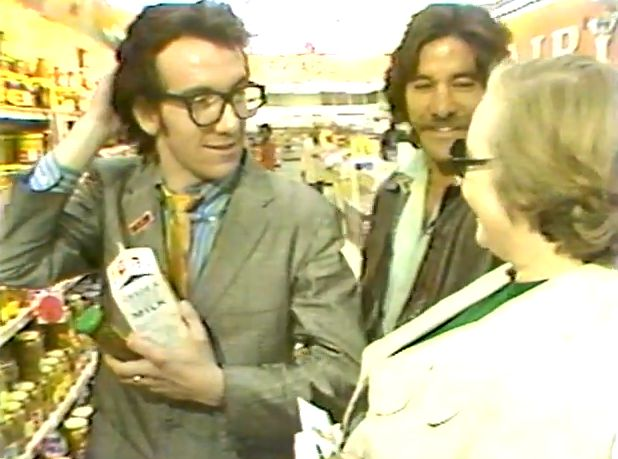 seanhowe:  Elvis Costello and Geraldo Rivera would like to buy this salad dressing and this milk.