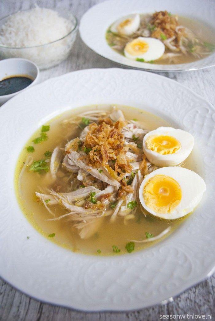 Saoto zelf maken. Een heerlijke kruidige kippensoep. - Recept in bron