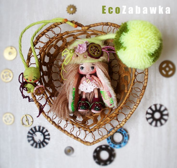https://www.instagram.com/eco_zabawka/  Eco Zabawka. Bunny-Doll. Miniature. Exclusive. Textile doll. Collection doll. Handmade doll. Steampunk. Art doll. Gift. Present. Souvenir. Christmas.