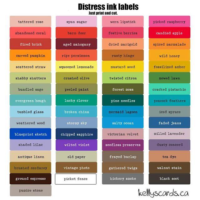 Distress Oxide Storage Labels Download Video In 2020 Distress Ink Tim Holtz Distress Ink Distress Ink Techniques