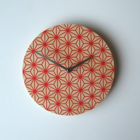 Objectify Red Pattern Wall Clock - hardtofind. $36.00 #hardtofind #red #pattern #clock