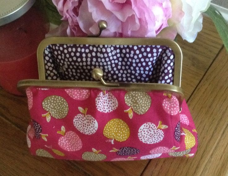 Frame purse made by me in Dashwood fabric
