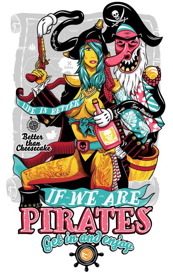 Piratas by 24B, via Behance