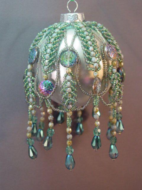 512 best ChristmasBeaded Ornaments images on Pinterest  Beaded