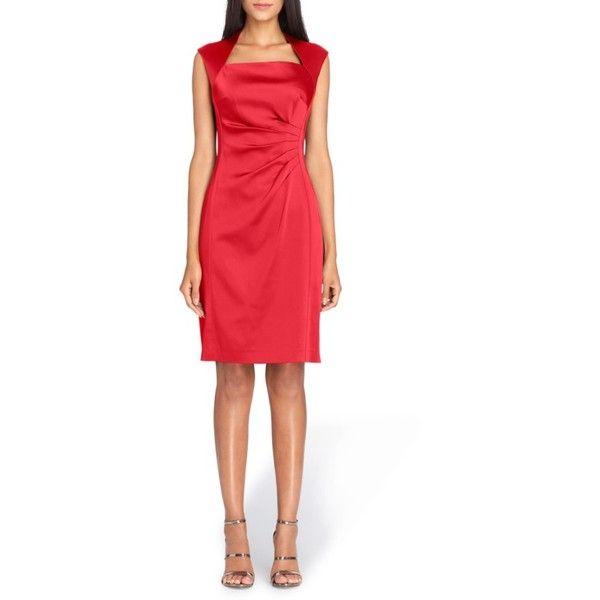 petite-red-sheath-dress