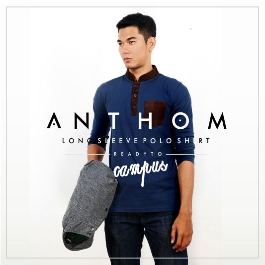 Be the COOLEST on Campus by wearing Mr. smith ANTHOM Long Sleeve Polo Shirt. Go click: smith.co.id