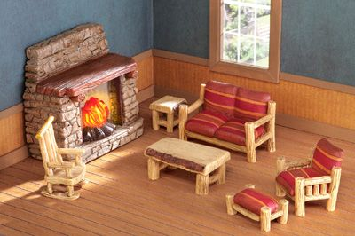 21 best doll houses miniatures images on pinterest for World concepts lodge furniture
