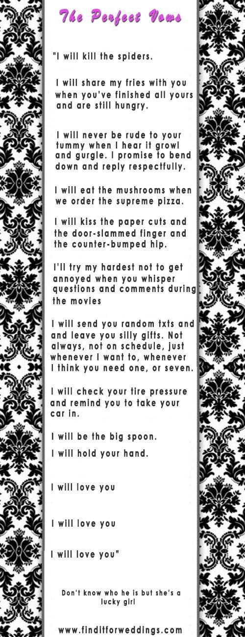 Romantic Wedding Vows Examples For Her and For Him | http://www.weddinginclude.com/2015/04/romantic-wedding-vows-examples-for-her-and-for-him/