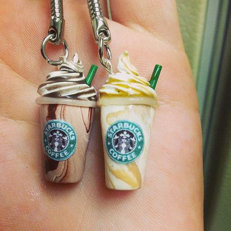 Coffee Charm - Polymer Clay - Caramel & Chocolate Frappes or a Regular Coffee