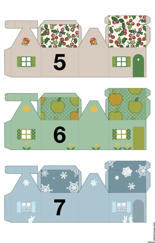 Printable Advent calendar | miniature houses