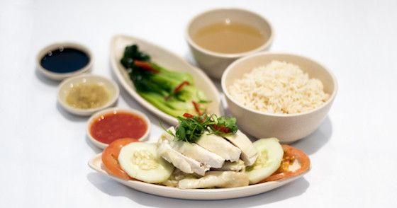 Singapore Airlines Singapore Chicken Rice. #sq #singaporeairlines #inflightmenu #businessclass