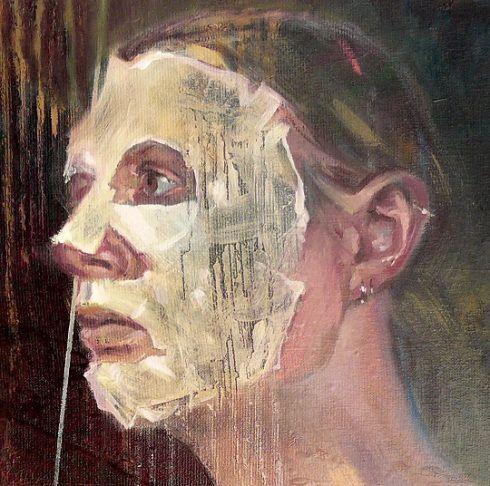 Barbara Porczyńska, Rites de passage, fragment oil on canvas 100x 80 cm, 2016