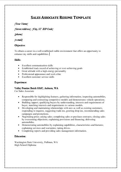 The 25+ best Sales resume ideas on Pinterest Business - example of sales associate resume