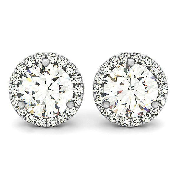 6.5mm Supernova Moissanite & Diamond Stud Earrings