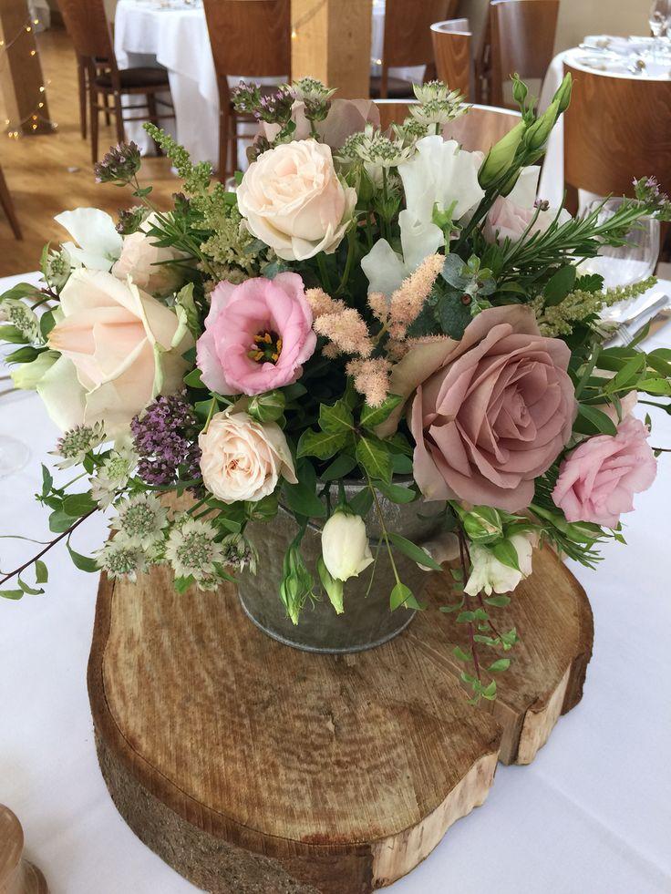#logslice #wooden #pinks #purples #table #decoration