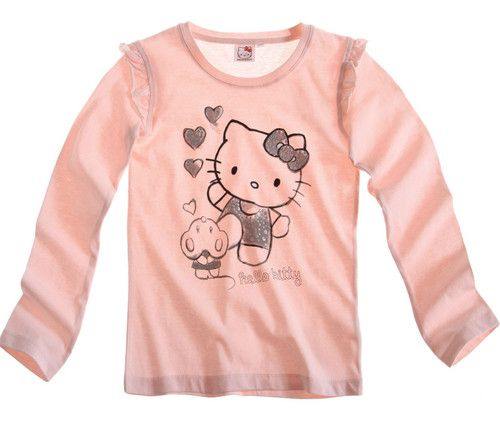 $8.62 Girl's Kids Official Hello Kitty Longsleeve T Shirt Sz Age 8 14 Pink | eBay