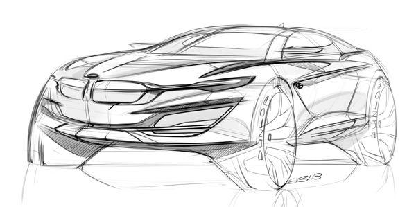 Car design sketches #3 by Grigory Butin, via Behance.
