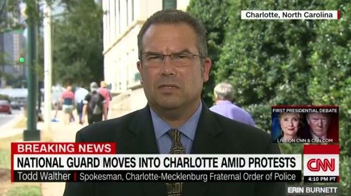 70% of arrested protesters in Charlotte riots had out of state ID's!!! Todd Walther, spokesman for the Charlotte-Mecklenburg Fraternal Order of Police tol